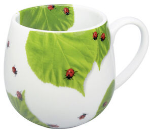 Becher Tasse Kuschelbecher Könitz Porzellan Motiv Marienkäfer 420 ml