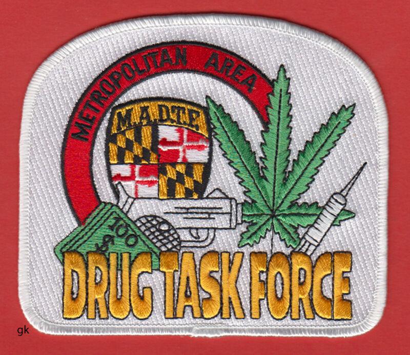 METROPOLITAN AREA  MARYLAND DRUG TASK FORCE  MARIJUANA SHOULDER PATCH