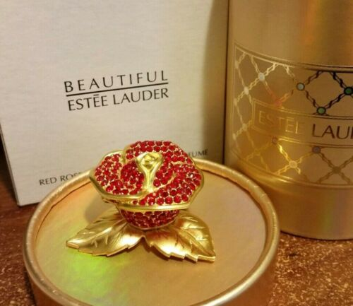 "Estee Lauder Solid Perfume Compact ""Red Rose"" MIBB"