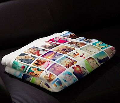 Plush Fleece Baby Blanket (Custom Baby Blanket Photo Plush Fleece Personalized and Fully)