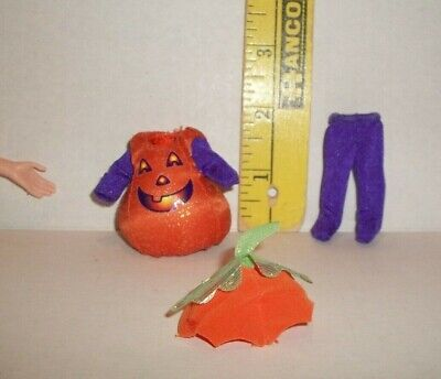 MATTEL Barbie KELLY DOLL PUMPKIN HALLOWEEN COSTUME CLOTHES NEW FROM BOX H1