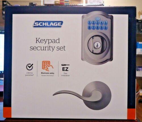 NEW!! Schlage Electronic KEYPAD SECURITY SET-FBE365 V CAM 619 ACC Camelot (1531)