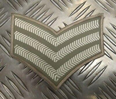 Original Britisches Militär Wüste Sergeant Rank Streifen Abzeichen Patch ()