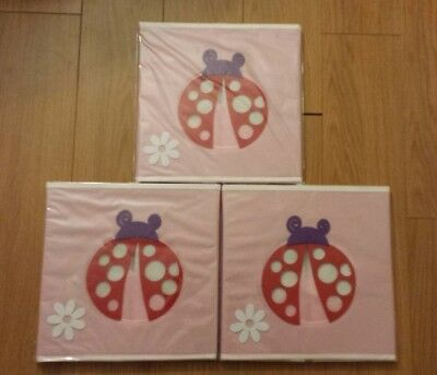 3 Bin Pastel Storage - Paylak SCR639 Kids Storage Organizer Bins Pastel Fabric Set of 3 Animal Print