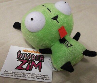 Nwt Cute Green Alien Invader Zim Dog Suit Robot Gir Mini Plush Stuffed Toy Doll