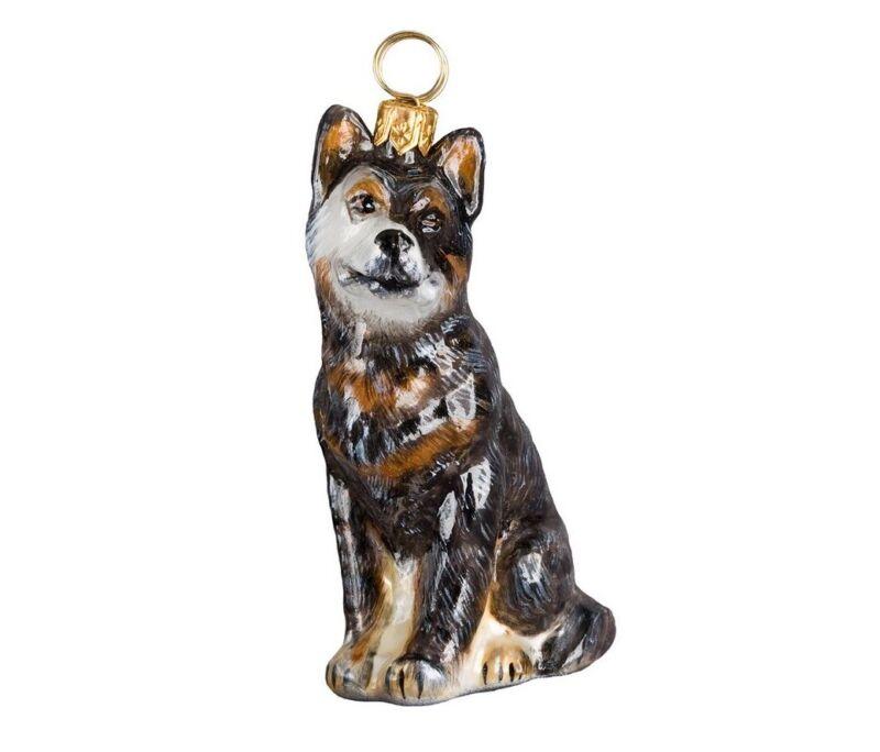 Australian Cattle Dog Polish Blown Glass Christmas Ornament