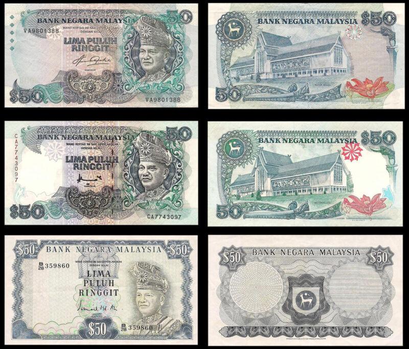 !COPY! 3 MALAYSIA BANK NEGARA RM50 LIMA PULUH RINGGIT BANKNOTES !NOT REAL!