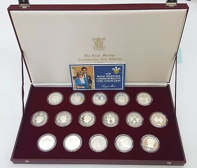 THE ROYAL MARRIAGE COMMEMORATIVE COIN COLLECTION 1981 SILVER PROOF COLLECTION