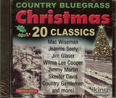 COUNTRY BLUEGRASS CHRISTMAS - CD - VARIOUS ARTIST - 20 CLASSICS - NEW - SEALED