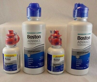 Bausch   Lomb Boston Advance Conditioning   Cleaning Solution  2 Bottles Each