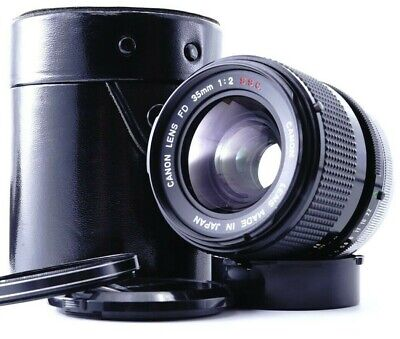 Excellent+5 Canon FD 35mm F/2 S.S.C SSC SLR MF Wide Angle Lens w/Case From JAPAN