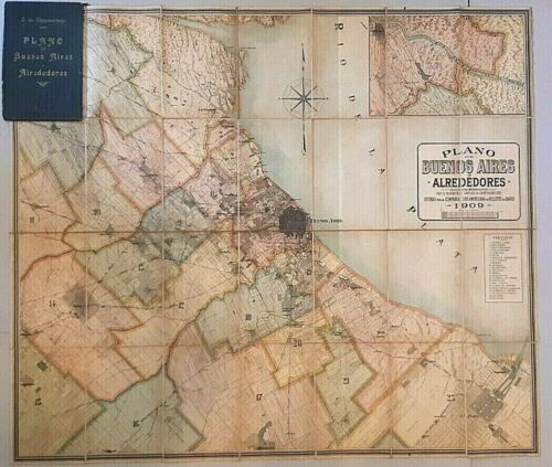 Buenos Aires map Carlos Chapeaurouge 1909