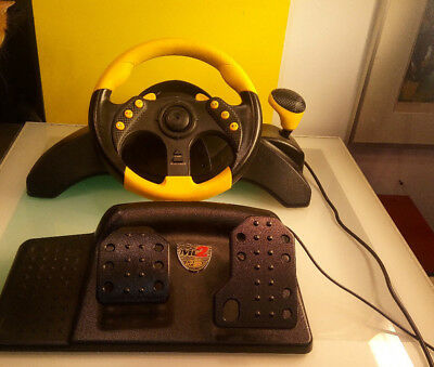 Mad Catz MC2 Steering Wheel and Pedals good condition Untested Xbox PS2 Gamecube for sale  Montreal