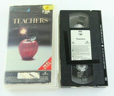 Teachers Video Store Clamshell VHS Tape Fox 80s Comedy Nick Nolte 1984  (Teachers Store)