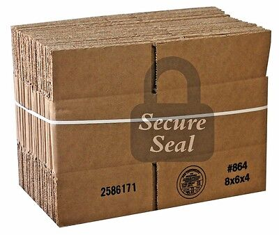 (1 8x6x4 200 lb 32 ect Cardboard Shipping Mailing Moving Packing Corrugated Box)