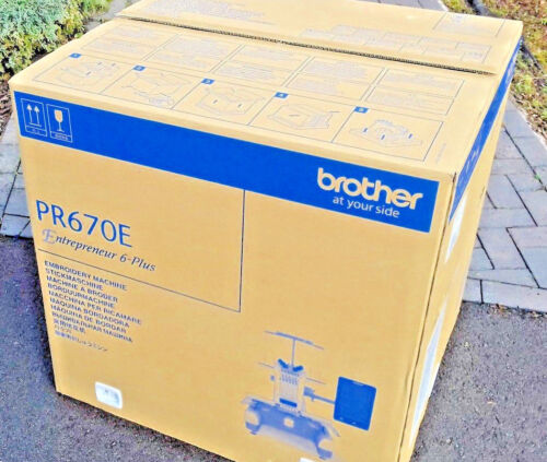 Demo Machine Brother PR670 e - 6 Needle Embroidery Machine  - Used Sold As is