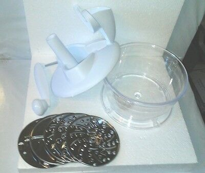 New! 6 PC Food Processor & Chopper-Manual Hand Operated