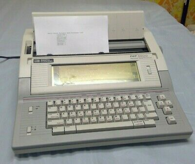Smith Corona Personal Word Processor 3200 Typewriter With Lcd Screen And Floppy