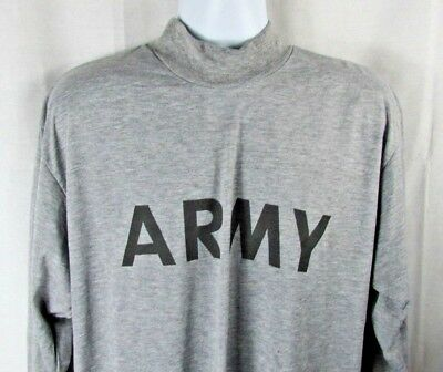 NEW US Military ARMY Grey Moisture Wicking PT PTU Long Sleeve LS T-Shirt IPFU