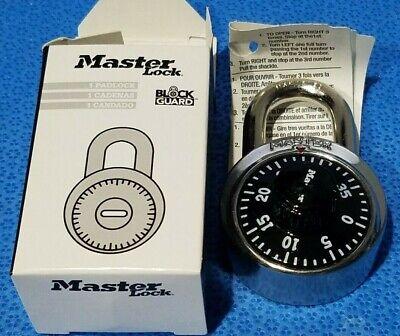 1 Master Lock 1525 Locker Padlock Combination Black Dial V36 Key