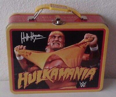 WWE HULKAMANIA TIN METAL LUNCH BOX, CARRY ALL, TOY HOLDER