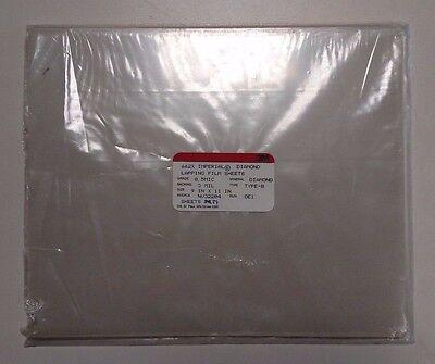 3m Diamond Lapping Film Sheets 662x .5 Mic 3 Mil 9x11 Non-psa 37 Sheets