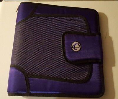 Case-it The Open Tab 3-ring Binder 2 Purple - Nwot