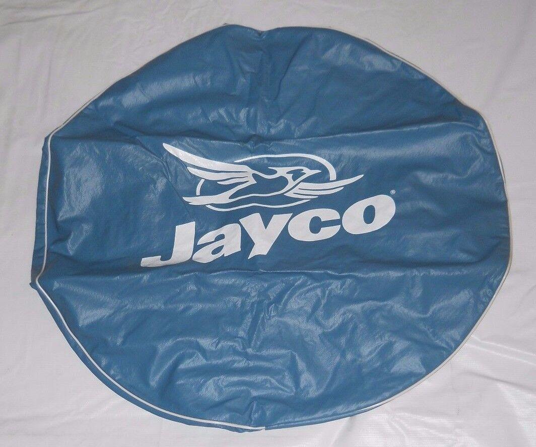 "RV/CAMPER JAYCO NAME + JAYCO BIRD LOGO 30"" DIA. BLUE SPARE TIRE COVER"