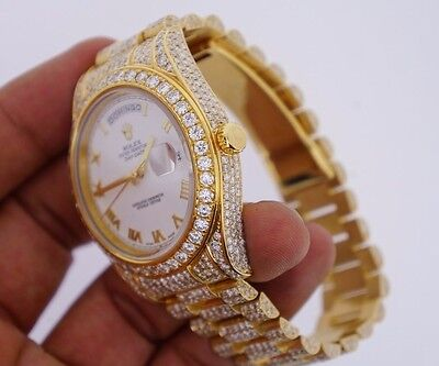 Rolex President 2 41Mm Watch White Dial 19 50 Ct Diamonds Everywhere Best Deal