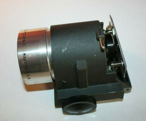 Bell & Howell 16mm 2 inch f/1.2 projector lens & mount w focus knob & film guide