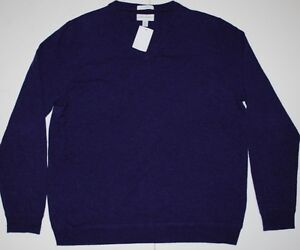 NWT NEW MENS JOHN W. NORDSTROM V NECK CASHMERE SWEATER SIZE M .