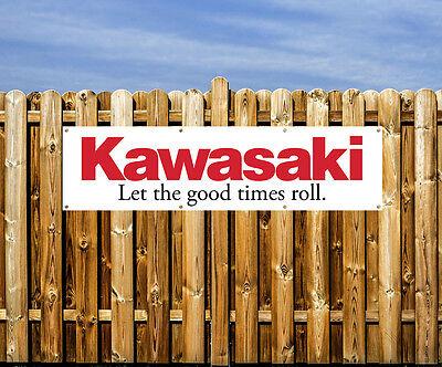 KAWASAKI MOTORCYCLE  - PVC BANNER - WORKSHOP, GARAGE & BEDROOM