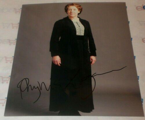 PHYLLIS LOGAN SIGNED DOWNTON ABBEY CLASSIC MRS HUGHES 8X10 PHOTO AUTOGRAPH COA