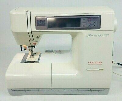 New Home Memory Craft 8000 Computerized Sewing Machine with Extras!