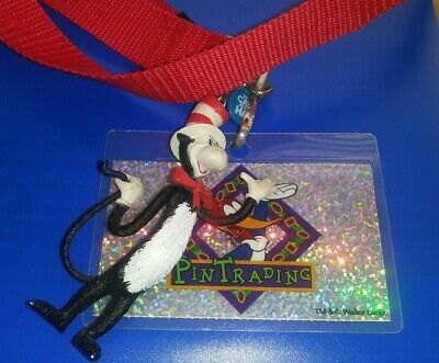 UNIVERSAL STUDIOS THEME PARK DR SEUSS & WOODY THE WOODPECKER LANYARD COLLECTIBLE