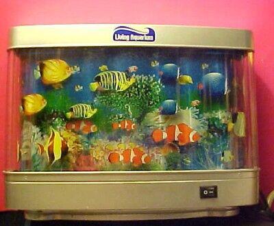 Rotating Living Sea Ocean Aquarium Picture Motion Moving Lamp Night Light