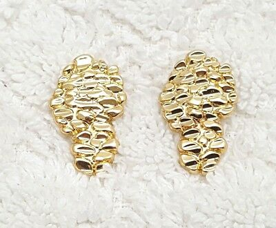 14kt gold plated nugget earrings -