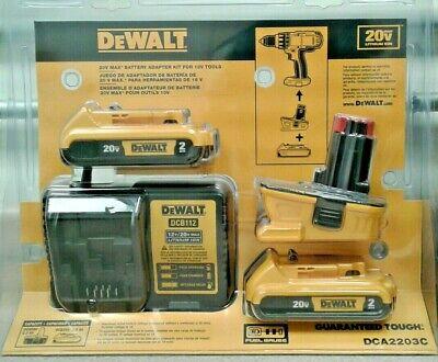 Dewalt Dca2203c New Battery Adapter Kit For 18v Tools