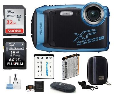 FUJIFILM FinePix XP140 Digital Camera (Blue) 7 Piece Bundle (Fujifilm Dealer)