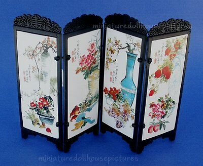 Miniature Dollhouse Chinese Screen With Mountains 1:12 Scale