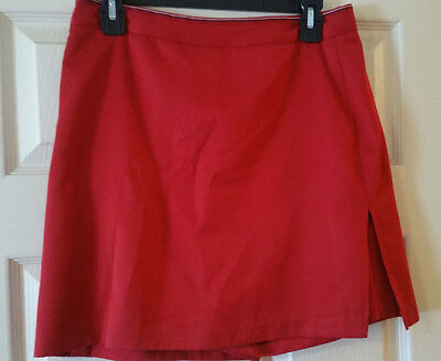 EP Pro Women's Golf Tennis Skort Size 8 Red Attached Shorts Microfiber