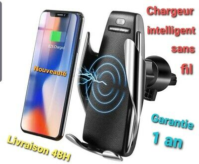 Chargeur induction sans fil voiture  QI a capteur inteligent  / NEUF
