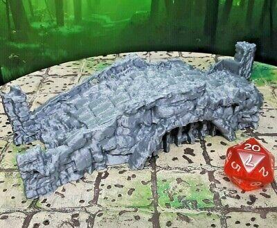 Stone Bridge Ruins Scatter Terrain Scenery 28mm Dungeons & Dragons 3D -