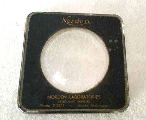 ATQ/VTG~Veterinary Magnifying Glass Dome Paperweight~Norden Laboratories~NE, USA