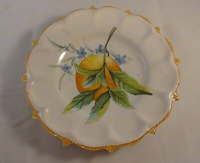 Antique Majolica Cantagalli Fruit Plate Oranges