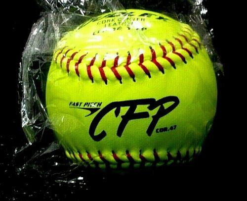 1-Dozen Dudley Cork Center Leather Fast Pitch CFP-12-Y-FP Softball BNIB