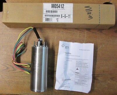 New Nos Itt Centripro M05412 4 Inch Submersible Pump Motor 0.50hp 230v 60hz