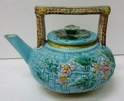 Gorgeous  Rare Antique Majolica Fish ~  Salt  Pepper Set ~  Figural Pottery Fish ~ Dripware ~ 1920s