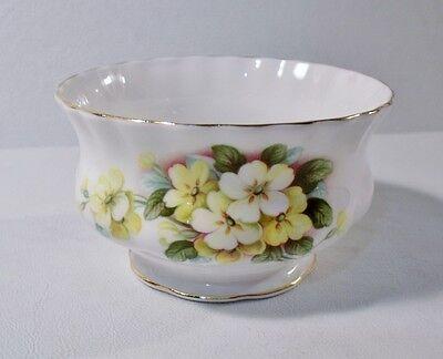 Royal Albert #ROA39 Yellow Flowers, Green Leaves, Gold Trim OPEN SUGAR BOWL Mint ()