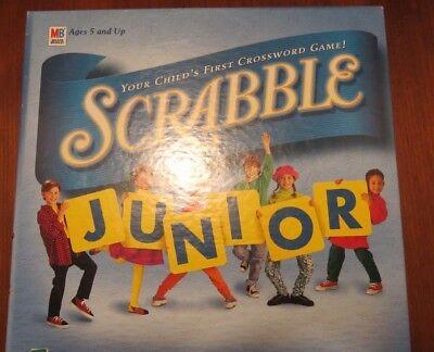 SCRABBLE JUNIOR ~ First Crossword Board Game ~ 5 & Up ~ HASBRO ~ Original Box